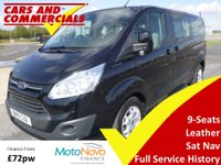 2015 FORD TOURNEO CUSTOM 300 L2 (LWB) Titanium  9-Seats 125ps (Leather & Sat Nav) £14250.00