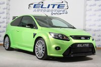 USED 2010 10 FORD FOCUS 2.5 RS 3d 300 BHP FULL SERVICE HISTORY/ LUX 1 & 2/ DYNAMICA SEATS/COMPLETELY ORIGINAL - STUNNING FOCUS RS - 300BHP - ULTIMATE GREEN!!!