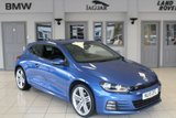 USED 2015 15 VOLKSWAGEN SCIROCCO 2.0 R LINE TDI BLUEMOTION TECHNOLOGY 2d 150 BHP FULL BLACK LEATHER SEATS + FULL VW SERVICE HISTORY + SAT NAV + BLUETOOTH + 19 INCH ALLOYS + £20 ROAD TAX + HEATED FRONT SEATS + HILL START ASSIST + FRONT/REAR PARKING SENSORS