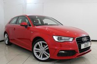 USED 2014 64 AUDI A3 1.2 TFSI S LINE 3DR 109 BHP HALF LEATHER SEATS + BLUETOOTH + CRUISE CONTROL + CLIMATE CONTROL + MULTI FUNCTION WHEEL + 18 INCH ALLOY WHEELS