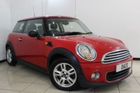USED 2011 61 MINI HATCH ONE 1.6 ONE PEPPER PACK 3DR 98 BHP SERVICE HISTORY + BLUETOOTH + AIR CONDITIONING + AUXILIARY PORT + 15 INCH ALLOY WHEELS