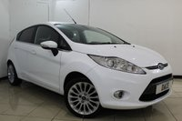 USED 2011 61 FORD FIESTA 1.4 TITANIUM 5DR 96 BHP BLUETOOTH + CRUISE CONTROL + MULTI FUNCTION WHEEL + AIR CONDITIONING + AUXILIARY PORT + 16 INCH ALLOY WHEELS