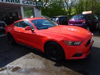 USED 2016 65 FORD MUSTANG 2.3 ECOBOOST 2d 313 BHP The 2.3 Ecoboost engine produces 313BHP and achieves 0-60 in just 5.8s, just like the V8 engine, and actually has a higher top speed of 145mph, yet more economical with over 35mpg! Ford Service History, One Previous Owner, MOT until January 2019