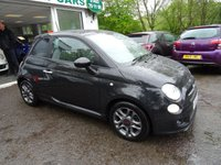 USED 2014 64 FIAT 500 0.9 TWINAIR S (SPORT) 3d 105 BHP Low Mileage, Full Service History (Fiat + ourselves), One Lady Owner from new, Minimum 9 months MOT, Sport Drive Mode with 6 Speed Gearbox producing 105BHP! Excellent fuel economy! ZERO Road Tax!