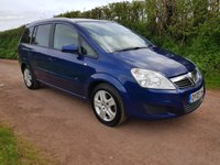 USED 2009 09 VAUXHALL ZAFIRA 1.6 ACTIVE 5d 105 BHP **2 OWNERS**SUPERB DRIVE**7 SEATER**