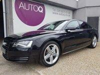 2013 AUDI A8 3.0 TDI QUATTRO SPORT EXECUTIVE 4d AUTO 247 BHP £21995.00