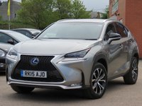 USED 2015 15 LEXUS NX 2.5 300H F SPORT 5d AUTO 153 BHP 12 MONTHS AA WARRANTY INCLUDED, REVERSING CAMERA + SATELLITE NAVIGATION