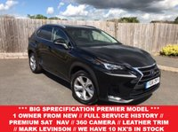 USED 2016 16 LEXUS NX 2.5 300H PREMIER 5d AUTO 153 BHP **BIG SPEC WITH FULL SERVICE HISTORY + 1 OWNER FROM NEW + SATELLITE NAVIGATION + REVERSE CAMERA + HEADS UP DISPLAY + MARK LEVINSON