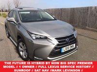2015 LEXUS NX 2.5 300H PREMIER 5d AUTO 153 BHP £23950.00