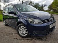 USED 2012 12 VOLKSWAGEN TOURAN 1.6 S TDI 5d 7 SEATS ALLOYS & A/C