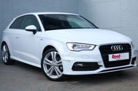 USED 2015 65 AUDI A3 1.4 TFSI S LINE 3d 124 BHP 1 OWNER+CRUISE+PARK ASSIST