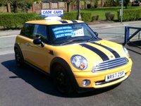 2007 MINI HATCH ONE 1.4 ONE 3d 94 BHP £3295.00