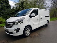 USED 2015 15 VAUXHALL VIVARO 1.6 2900 L2H1 CDTI SPORTIVE 5 Door 115 BHP Excellent Condition Van, Rear Ply Lined, Air Con, Parking Sensors & Comes with 6 Month Rac Warranty