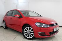 USED 2014 64 VOLKSWAGEN GOLF 2.0 GT TDI BLUEMOTION TECHNOLOGY 5DR 148 BHP FULL VW SERVICE HISTORY + PARKING SENSOR + BLUETOOTH + CRUISE CONTROL + AIR CONDITIONING + 17 INCH ALLOY WHEELS