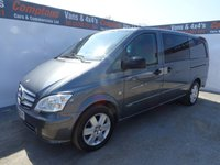 USED 2015 15 MERCEDES-BENZ VITO 2.1 116 CDI DUALINER 1d 163 BHP SPORT LONG WHEEL BASE 5 SEATS SPORT MODEL WITH 5 SEATS AND A REAR UP AND OVER DOOR !!!