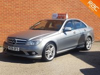 2008 MERCEDES-BENZ C CLASS 2.1 C220 CDI SPORT 4d AUTO 168 BHP FULL BLACK LEATHER £5995.00
