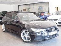 USED 2013 63 AUDI A6 2.0 AVANT TDI S LINE BLACK EDITION 5d AUTO 175 BHP PAN ROOF+SAT NAV+BOSE+LEATHER