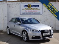 USED 2014 64 AUDI A3 2.0 TDI S LINE 5d 148 BHP One Owner Full Audi History 0% Deposit Finance Available