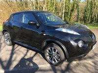 USED 2014 14 NISSAN JUKE 1.6 TEKNA 5d AUTO 117 BHP AUTOMATIC !! TOP SPEC, FULL LEATHER, SAT NAV, BLUETOOTH