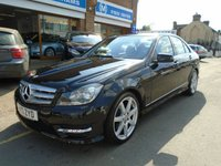 2013 MERCEDES-BENZ C CLASS 2.1 C220 CDI BLUEEFFICIENCY AMG SPORT 4d AUTO 168 BHP £12494.00