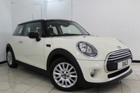USED 2015 65 MINI HATCH COOPER 1.5 COOPER 3DR CHILI PACK 134 BHP FULL SERVICE HISTORY + HALF LEATHER SEATS + PARKING SENSOR + BLUETOOTH + CRUISE CONTROL + MULTI FUNCTION WHEEL + CLIMATE CONTROL + 15 INCH ALLOY WHEELS