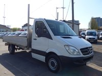 USED 2013 63 MERCEDES-BENZ SPRINTER 313 CDI LWB 13FT DROPSIDE, 130 BHP [EURO 5], DIRECT FROM MERCEDES-BENZ