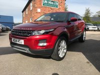 2014 LAND ROVER RANGE ROVER EVOQUE 2.2 SD4 PURE TECH 3d 190 BHP £21000.00
