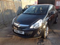 USED 2012 12 VAUXHALL CORSA 1.4 SE 3d 98 BHP Great value, 48000 miles, alloys, superb.