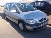 USED 2005 05 VAUXHALL ZAFIRA 1.6 DESIGN 16V 5d 99 BHP Great value 7 seater, 65000 miles, very clean, superb.