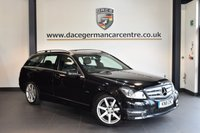 USED 2011 11 MERCEDES-BENZ C CLASS 1.8 C180 BLUEEFFICIENCY SPORT 5DR 155 BHP + HALF BLACK LEATHER INTERIOR + EXCELLENT SERVICE HISTORY + BLUETOOTH + SPORT SEATS + CRUISE CONTROL + PARKING SENSORS + 17 INCH ALLOY WHEELS +