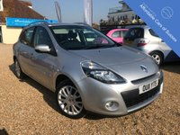 USED 2011 11 RENAULT CLIO 1.5 DYNAMIQUE TOMTOM DCI 5d 88 BHP Full colour Sat Nav- Air con, £20 a year to tax