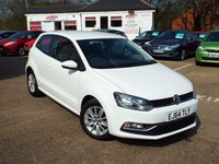 USED 2014 64 VOLKSWAGEN POLO 1.0 SE 3d 60 BHP FULL VW Service History ONE Owner Only £20 Road Tax