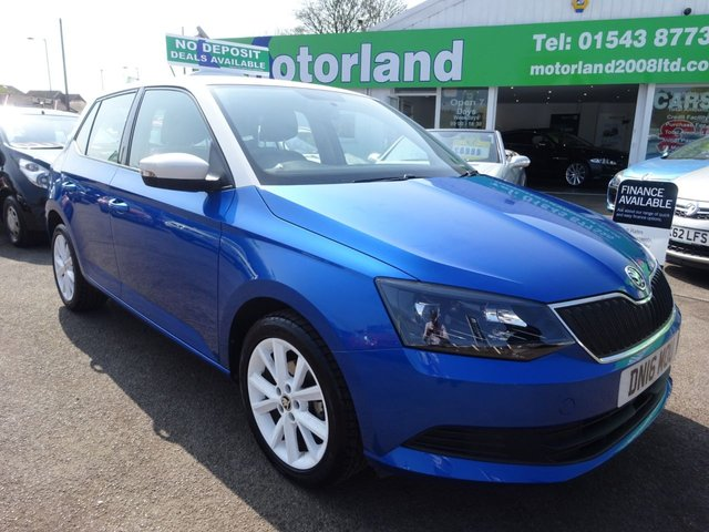 USED 2016 16 SKODA FABIA 1.2 COLOUR EDITION TSI 5d 89 BHP FULL DEALER SERVICE HISTORY...1 OWNER FROM NEW