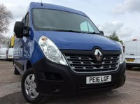 2016 RENAULT MASTER LWB 2.3 LM35 BUSINESS PLUS ENERGY DCI S/R 135 BHP 1 OWNER FSH AIR CON SAT NAV £11000.00