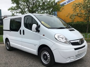 2012 VAUXHALL VIVARO 2.0 2900 CDTi Crew Cab 6 seat TSLD [ Factory Built ] Low Miles ex lease Free UK Delivery £7950.00