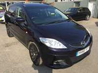 2008 MAZDA MAZDA 5 2.0 TS2 D 5 DOOR 110 BHP IN METALLIC MAROON WITH 7 SEATS AND ONLY 81000 MILES £3490.00