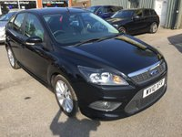 2010 FORD FOCUS 1.6 ZETEC S S/S 5 DOOR 113 BHP IN BLACK WITH ONLY 9000 MILES AND A FULL SERVICE HISTORY £6490.00