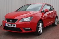 USED 2014 14 SEAT IBIZA 1.4 TOCA 3d 85 BHP DEALER FULL SERVICE HISTORY