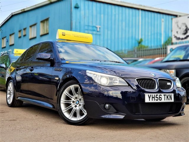2006 56 BMW 5 SERIES 3.0 530D M SPORT 4d AUTO 228 BHP! p/x welcome! AUTO! SAT-NAV! FULL CREAM LEATHER! XENON! WOOD TRIM! PARKING AID (F+R)! BLUETOOTH! AUX! 6 CD CHANGER! CRUISE & CLIMATE CONTROL! FULL SERVICE HISTORY! NEW MOT & SERVICE!