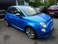 USED 2015 15 FIAT 500 0.9 TWINAIR S (SPORT) 3d 85 BHP Low Mileage, One Lady Owner, Full Service History (Fiat + ourselves), Minimum 9 months MOT, Excellent fuel economy! ZERO Road Tax!