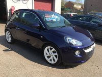 USED 2014 14 VAUXHALL ADAM 1.4 JAM 3d 85 BHP ONLY 20,000 MILES, TOUCH SCREEN RADIO, HALF LEATHER, BLUETOOTH,