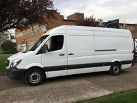 USED 2014 64 MERCEDES-BENZ SPRINTER 2.1 313CDI LWB HIGH ROOF 130BHP NEW SHAPE. 1 OWNER. FSH. 0% DEPOSIT FINANCE. PX WELCOME. 1 OWNER.