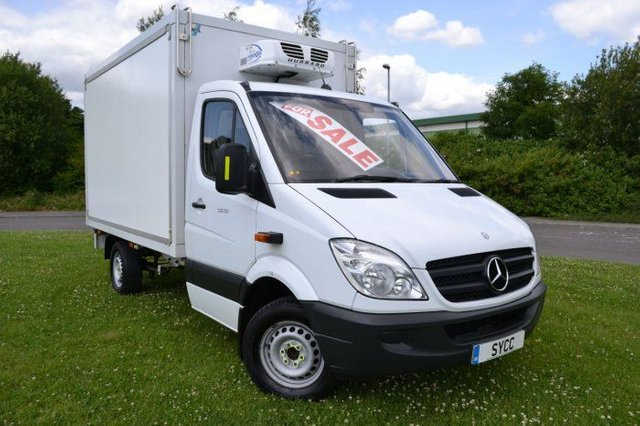 USED 2011 11 MERCEDES-BENZ SPRINTER 2.1 3.5t Chassis Cab Hubbard Fridge Van HUBBARD FRIDGE ~ JUST SERVICED AND MOT'D