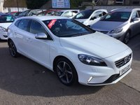 USED 2013 13 VOLVO V40 1.6 D2 R-DESIGN 5d 113 BHP 1 OWNER FROM NEW+ FULL DEALER SERVICE HISTORY-LOW MILEAGE EXAMPLE
