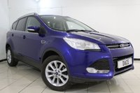 USED 2015 64 FORD KUGA 2.0 TITANIUM TDCI 5DR 148 BHP SERVICE HISTORY + HALF LEATHER SEATS + BLUETOOTH + CRUISE CONTROL + CLIMATE CONTROL + MULTI FUNCTION WHEEL + RADIO/CD + 17 INCH ALLOY WHEELS