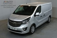 USED 2017 17 VAUXHALL VIVARO 1.6 2900 SPORTIVE 120 BHP SWB LOW ROOF A/C E6 ONE OWNER FROM NEW, LOW MILEAGE, EURO 6