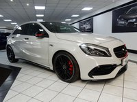 USED 2016 65 MERCEDES-BENZ A CLASS 2.0 A45 AMG 4MATIC PREMIUM DCT 375 BHP PANROOF AMG RIDE SPORT EXHAUST 19'S