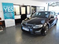 "USED 2014 64 SKODA OCTAVIA 2.0 VRS TDI CR 5d 181 BHP This Octavia VRS is finished in Metallic black magic with Black cloth/leather edged VRS embossed seats. It is fitted with power steering, LED daylights, xenon lights, satellite navigation, front & rear park assist, bluetooth, SD card Media, remote locking, electric windows and mirrors with power fold, climate control, 18"" multi spoke alloy wheels with red calipers, CD Stereo and more. It has had one company owner from new and comes with a service history consisting of a printout."
