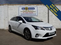 USED 2013 63 TOYOTA AVENSIS 2.0 D-4D ICON 5d 124 BHP Full Dealer History SATNAV A/C 0% Deposit Finance Available