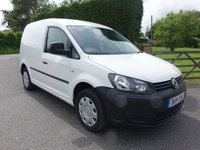 USED 2014 14 VOLKSWAGEN CADDY C20 STARTLINE BLUEMOTION TECHNOLOGY 1.6TDI 102 BHP Popular TDI Caddy Direct From Electric Authority With Low Mileage, Air Conditioning Etc Very Clean Example!